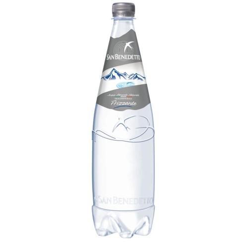 Минеральная вода с газом San Benedetto 1л. Сан Бенедетто 1л газированная Пластик
