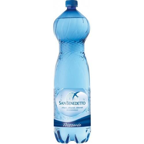 Минеральная вода с газом San Benedetto 1.5 Сан Бенедетто 1.5 газированная Пластик