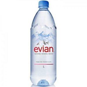 Минеральная вода без газа Evian Эвиан 1 л. Пластик